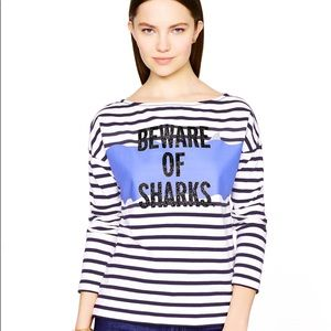 Beware of Sharks Kate Spade Pullover Sweater Shirt